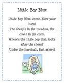 Little Boy Blue (learn with a favorite nursery rhyme)