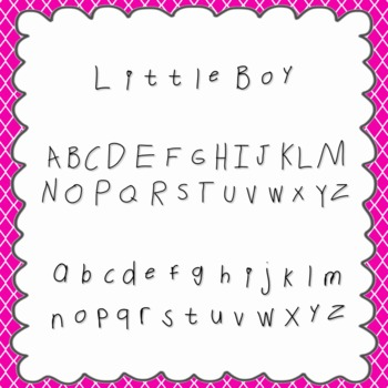 Little Boy Font {personal and commercial use; no license needed}