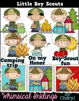 Little Boy Scouts Clipart Collection