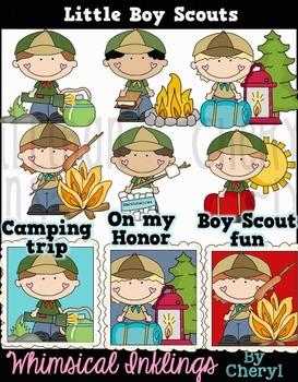 Little Boy Scouts Clipart Collection