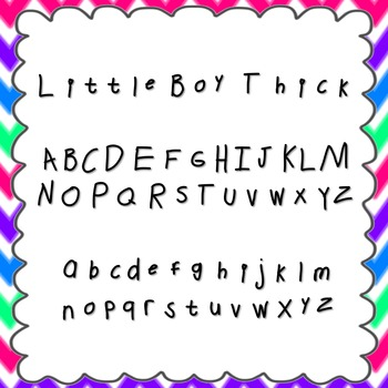 Little Boy Thick Font {personal and commercial use; no lic