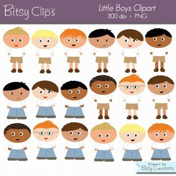 Little Boys Digital Art Set Clipart Commercial Use Clip Art