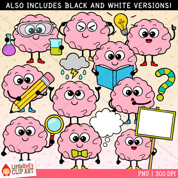 Little Brainiacs Brain Clip Art