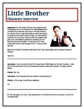 Little Brother - Character Interview writing assignment