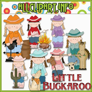 Little Buckaroo Clip Art - Cheryl Seslar Clip Art