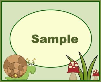 Little Buggy Snail Labels