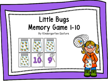 Little Bugs Memory Game 1-10