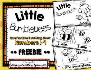 Little Bumblebees --- Interactive Summer Counting Book ***FREEBIE***
