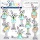Little Bunnies Clip Art Set : Girls