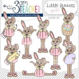 Little Bunnies Clip Art Set : Girls