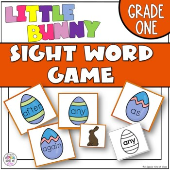 Little Bunny Sight Word Game - Grade One Dolch Word List