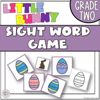 Little Bunny Sight Word Game - Grade Two Dolch Word List