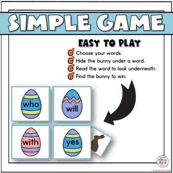 Little Bunny Sight Word Game Primer List