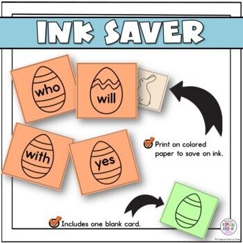 Little Bunny Sight Word Game Primer List