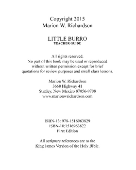 Little Burro Teacher Guide Christian Lesson Plan: describing a faithful servant
