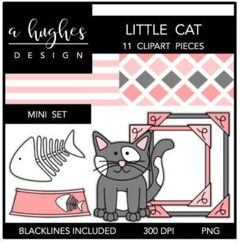 Little Cat Mini Clipart Bundle {A Hughes Design}