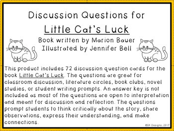 Little Cat's Luck Discussion Question Cards