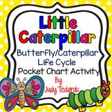 Little Caterpillar (A Butterfly/Caterpillar Life Cycle Pocket Chart Activity)