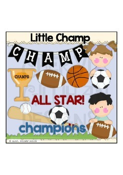 Little Champ Clipart Collection