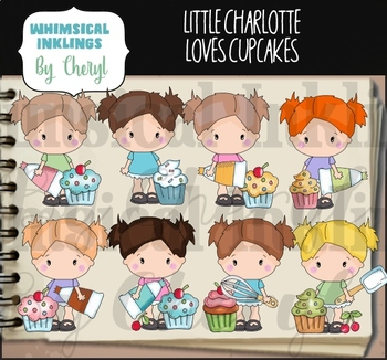 Little Charlotte Cupcakes Clipart Collection