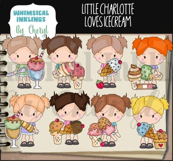 Little Charlotte Ice Cream Clipart Collection