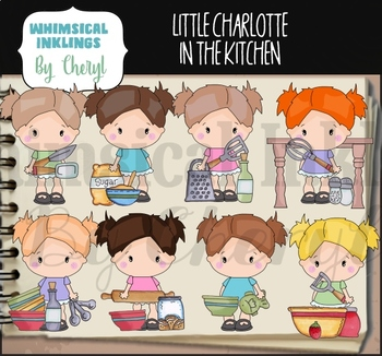 Little Charlotte In The Kitchen Clipart Collection