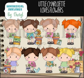 Little Charlotte Loves Flowers Clipart Collection