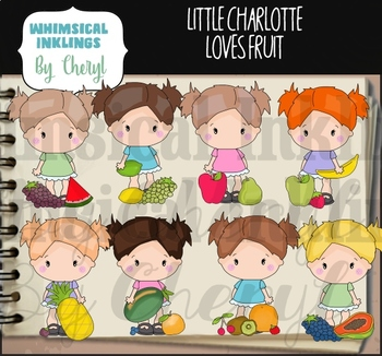 Little Charlotte Loves Fruit Clipart Collection