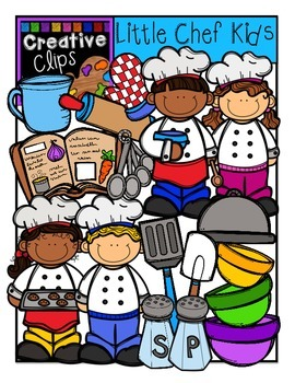 Little Chef KIDS {Creative Clips Digital Clipart}