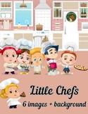 Little Chefs Clip Art