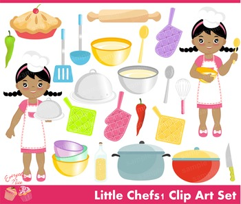 Little Chefs Clipart Set