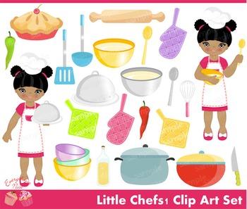 Little Chefs 1 Clipart Set