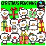 Little Christmas Penguins Clip Art Bundle {Educlips Clipart}