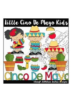 Little Cinco De Mayo Kids Clipart Collection