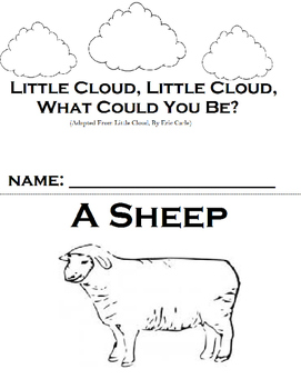 "Little Cloud By Eric Carle Adapted Book, ""WH"" questions and sequencing"