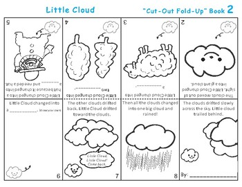 Little Cloud by Eric Carle Cut-Out Fold-Up Book