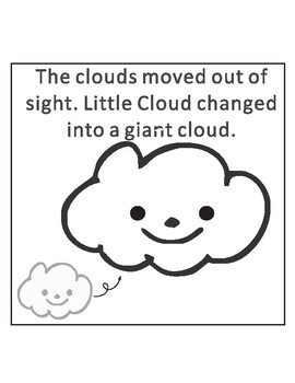 Little Cloud by Eric Carle Sequencing Text Activity