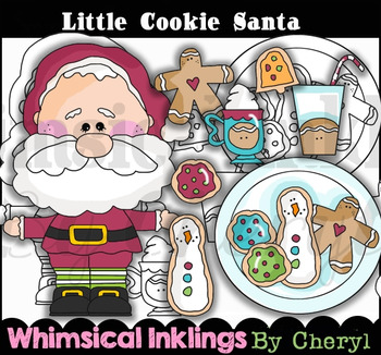 Little Cookie Santa Clipart Collection