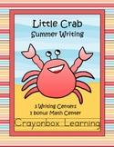 Summer Writing Activities - Little Crab - Ocean - Literacy and Math Centers