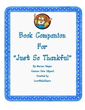 Little Critter Just So Thankful Book Companion