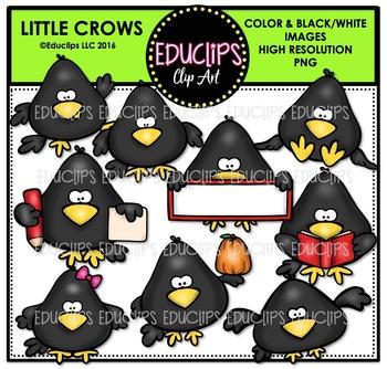 Little Crows Clip Art Bundle  {Educlips Clipart}