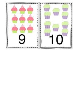 Little Cupcake Numbers, 1-10, Flip Book