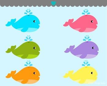 Little Cute Whales Clip Art