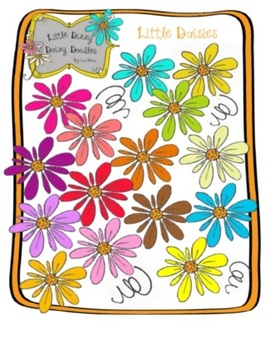 Little Daisies Clip Art Pack