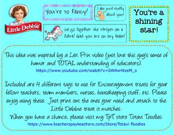 Little Debbie Encouragement Cards