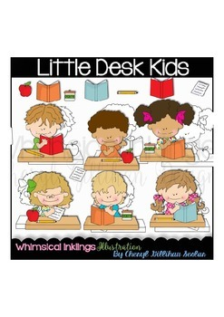 Little Desk Kids Clipart Collection
