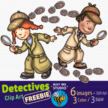 Little Detectives Clip Art | FREEBIE