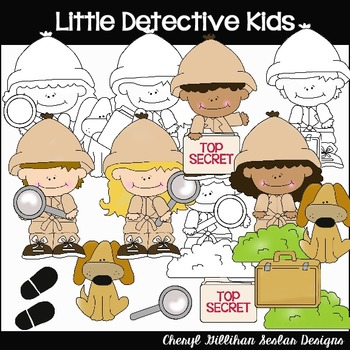 Little Detectives Clipart Collection
