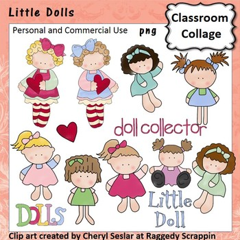 Little Dolls clip art - Color - personal/comm  use