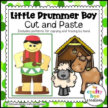 Little Drummer Boy Cut and Paste